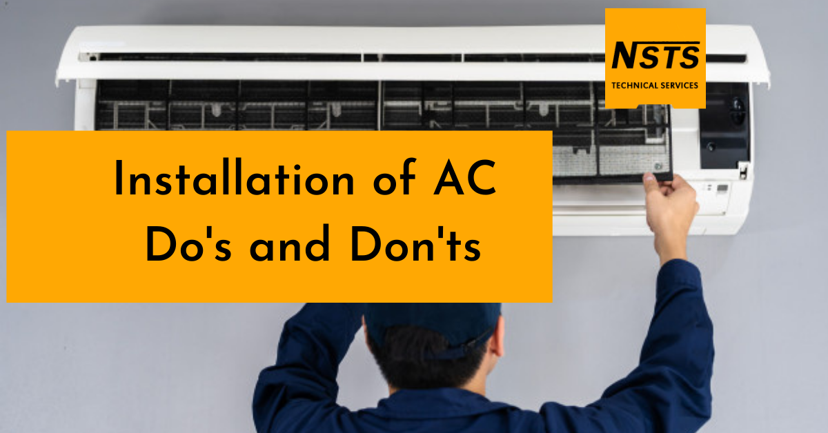 Installation of AC Do's and Don'ts