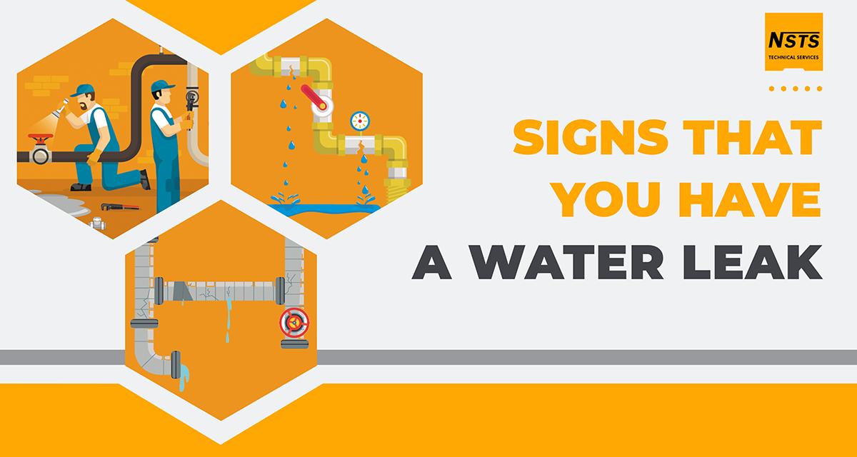 signs of water leak
