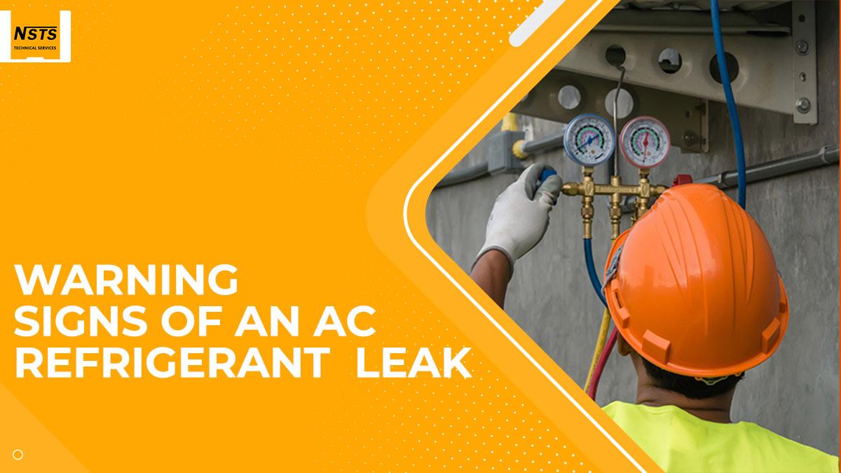 WARNING SIGNS OF AN AC REFRIGERANT  LEAK